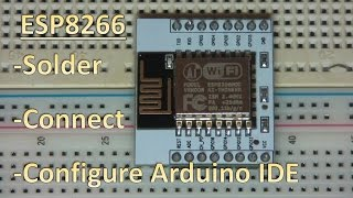 getlinkyoutube.com-ESP8266 12 / 7 - How to solder breakout board and flash with Arduino IDE