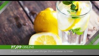 getlinkyoutube.com-Zitronenwasser ist das perfekte Gesundheitsgetränk, um den Tag zu beginnen