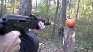 getlinkyoutube.com-Pumpkin Carving With an AK 47