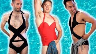 getlinkyoutube.com-Men Try Women's Swimwear