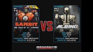 getlinkyoutube.com-Real Steel WRB Gambit VS Albino NEW ROBOT Christmas updating