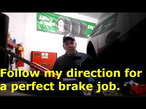 How to change brakes on a Mitsubishi Galant
