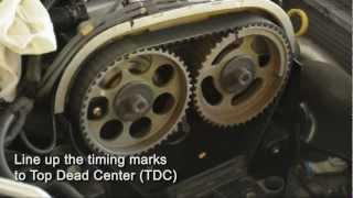 getlinkyoutube.com-Astra Turbo (z20let) Timing Belt Install - Part 1 of 2