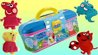 Nick Jr. PEPPA PIG Picnic Dough Set, George Friends, Play-doh Carry Case Toys Learn Colors / TUYC