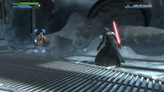 getlinkyoutube.com-Star Wars: The Force Unleashed PC - Boss Fight: Luke Skywalker (1/2)