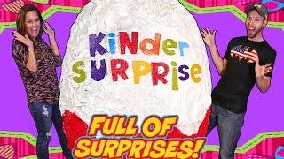 getlinkyoutube.com-BIGGEST Kinder Surprise Egg on DCTC - Giant Play Doh Egg Full Of Toys Toy Toyz!