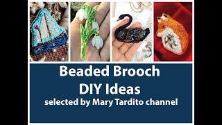 Gorgeous Beaded Brooch Ideas – DIY Jewelry Ideas