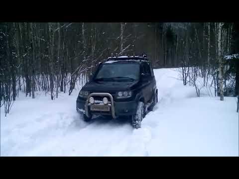 Покатушки по снегу на УАЗ. Русское бездорожье