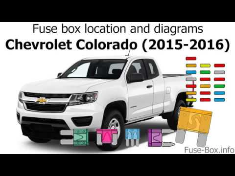 Fuse box location and diagrams: Chevrolet Colorado (2015-2016)