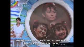 getlinkyoutube.com-BABYMETAL LONDON LIVE (TV NEWS from Zip) Eng Subtitles