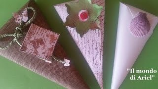 getlinkyoutube.com-DIY coni PORTA RISO o PORTA CONFETTI,coppettini fai da te,scrapbooking,wedding ideas