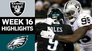 Raiders vs. Eagles   NFL Week 16 Game Highlights
