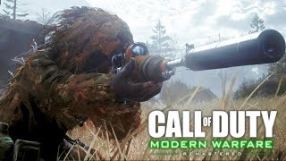 getlinkyoutube.com-Call of Duty 4 Modern Warfare Remastered: All Ghillied Up Sniper Mission Gameplay Veteran