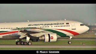 Biman Bangladesh Airbus A310 [S2 ADK] landing at Rome Fiumicino Airport