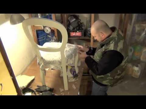Come foderare una poltrona video sanotint light tabella - Tappezzare una sedia ...