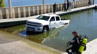 getlinkyoutube.com-Brand new Silverado in water at, ramp total loss