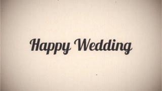 """getlinkyoutube.com-自作に使える無料映像素材 昔の映画風レトロ """"Happy Wedding"""""""