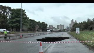 Mancunian Way collapses following heavy rain - Manchester Headline News
