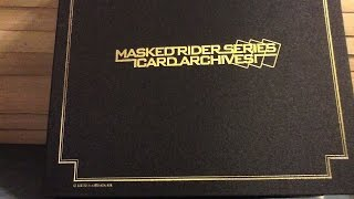 kamen rider series card archives binder review