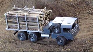 getlinkyoutube.com-RC MAN Kat 1 6x6 with timber - offroad