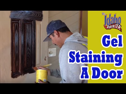 Gel Staining Fiberglass Doors