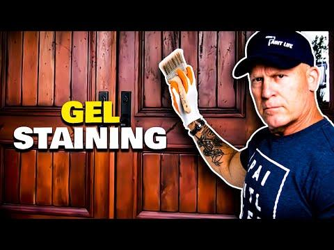 Gel Staining Fiberglass Doors
