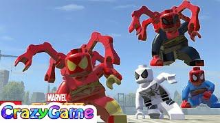 getlinkyoutube.com-LEGO Marvel Super Heroes - All Spider-Man Characters (Unlocking & MOD)