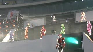 getlinkyoutube.com-『夢ドーム・スーパーヒーローライブステージ』 トッキュウジャー/仮面ライダードライブ他 2015.1.5 Super Hero Live Stage