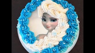 getlinkyoutube.com-Cake decorating - how to make elsa buttercream cake - Sugarella Sweets