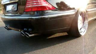 getlinkyoutube.com-W220 + W215 S500 CL500 Exhaust sound version APOCALYPSE