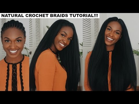 How to do Straight Crochet Braids with a Knotless Part | Outre X-Pression Dominican Blowout Straight