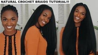 getlinkyoutube.com-How to do Straight Crochet Braids with a Knotless Part | Outre X-Pression Dominican Blowout Straight