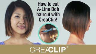 getlinkyoutube.com-As Seen on Shark Tank ! How to cut A-Line Bob haircut with CreaClip!