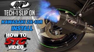 getlinkyoutube.com-M4 2016 Kawasaki ZX-10R Tech 1 Slip On Install from Sportbiketrackgear.com