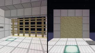 Minecraft 一つの機構で二種類の扉 砂のピストンドア&三段押し上げ式門扉