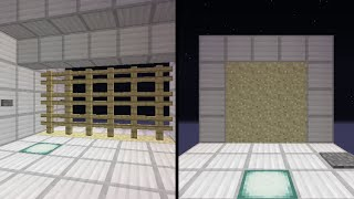 getlinkyoutube.com-Minecraft 一つの機構で二種類の扉 砂のピストンドア&三段押し上げ式門扉