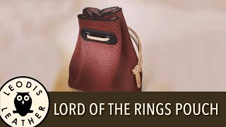 getlinkyoutube.com-Making a Lord of the Rings Style Leather Pouch