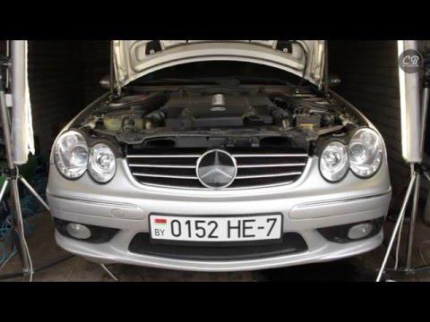 "Mercedes-Benz CLK 500 V8 ""Пятисотка"" - ТО и ремонт C209 M113 - 2 недели за 15 минут - C&B"