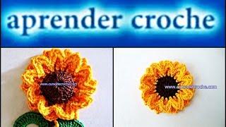 getlinkyoutube.com-FLORES EM CROCHE FLOR GIRASSOL PRINCE - 086