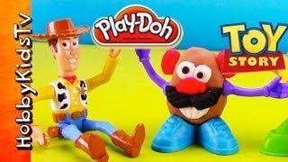 getlinkyoutube.com-PLAY-DOH Mr. Potato Head Playset Mrs. Potato Head, Woody, Hamm [Toy Story] Review, Play