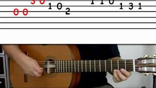 getlinkyoutube.com-Guitar lesson 4A : Beginner -- 'Happy Birthday' on three strings