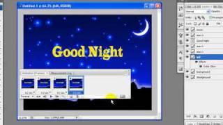 getlinkyoutube.com-Create Animated good night wish card photoshop tutorial part 2
