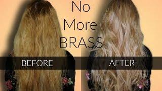getlinkyoutube.com-Toning BRASSY Hair - Wella T18 & T11 / Easy at home hair Highlights