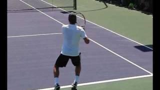 getlinkyoutube.com-Roger Federer - Forehands from the Back Perspective