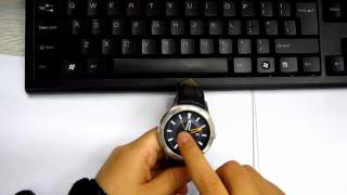 getlinkyoutube.com-NO.1 D5 Android 4.4 Smart Watch Fist Hands on Test Circle Dial, SIM Card Support.