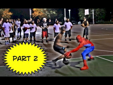 Spiderman Plays Basketball Part 2...