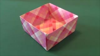 "getlinkyoutube.com-「箱」折り紙""Box""origami"