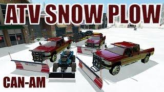 getlinkyoutube.com-FARMING SIMULATOR 2017 | ATV SNOW PLOWING | 3 PERSON CREW | DURAMAX