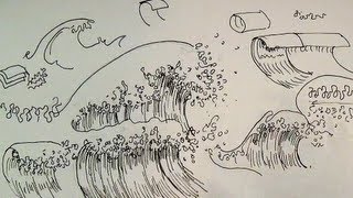 getlinkyoutube.com-Pen & Ink Drawing Tutorials | How to draw ocean waves of a seascape