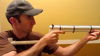 getlinkyoutube.com-PVC Shotgun - Rubber Band Gun - Nerf Blowgun
